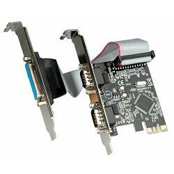 Kontroler 2×RS232, 1×Parallel port PCI-e, Roline