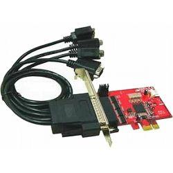 Kontroler Lycom PCIe x1 TO 4 SERIJSKA (RS232) porta IO-107
