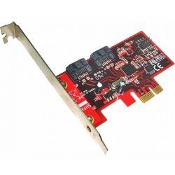 Lycom PCIe x1 TO 2 6Gbps SATA III ports PE-115H, Sučelje PCIe x1, Priključci 2x SATA III, RAID 0,1,