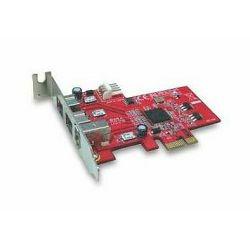 Lycom PCIe x1 TO FireWire 1394b & 1394a combo , Sučelje PCIe x1, Priključci 2x IEEE 1394b,1x IEEE 1