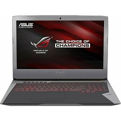 Prijenosno računalo ASUS ROG G752VT-GC049D, 17.3'' IPS FHD, i7-6700HQ 2.6 GHz, 16GB DDR4, 256GB SSD, GTX970M 3GB DDR5, DVDRW, FreeDOS