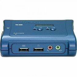 Trendnet TK-209K, 2-Port USB KVM Switch Kit w/ Audio, High quality 2048x1536 resolution, All requir